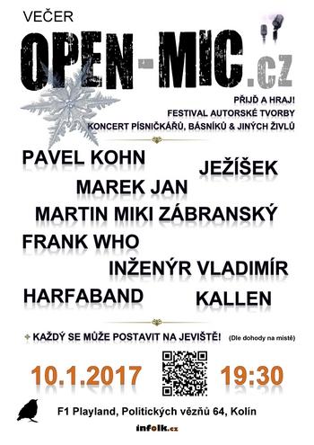 Open Mic Kolín 10.1.2017