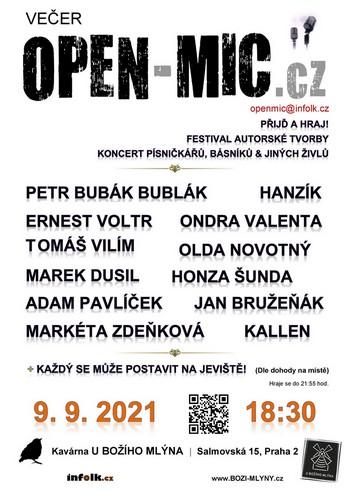 OPEN-MIC.cz písničkářů | Dadap | 29.9.2016