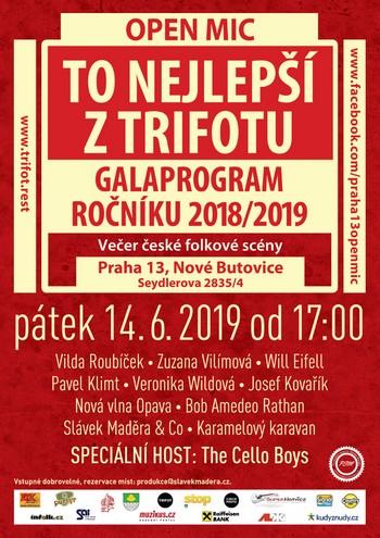 TRIFOT Open Mic Praha 13 Nové Butovice